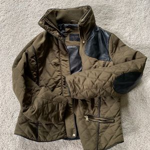 Zara Olive Quilted Hunting Jacket